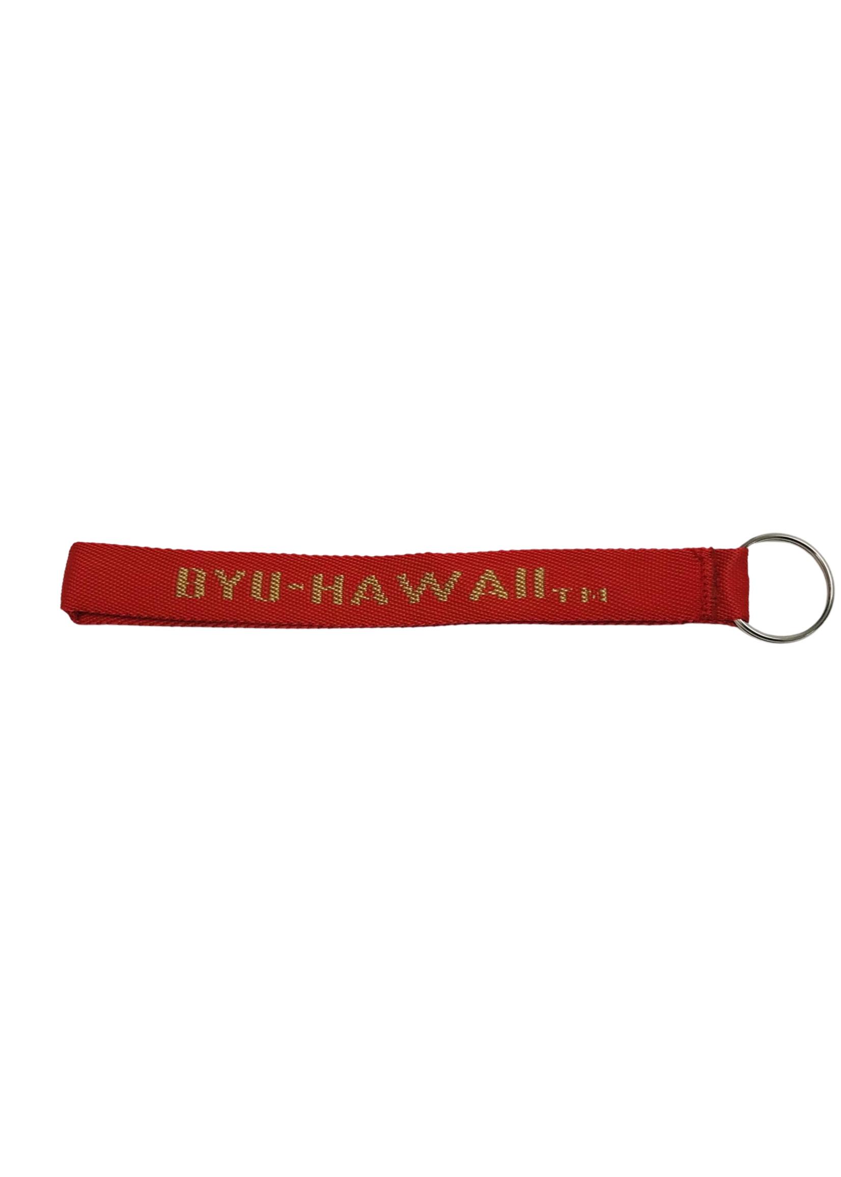 Woven Wristlet Keystrap Red