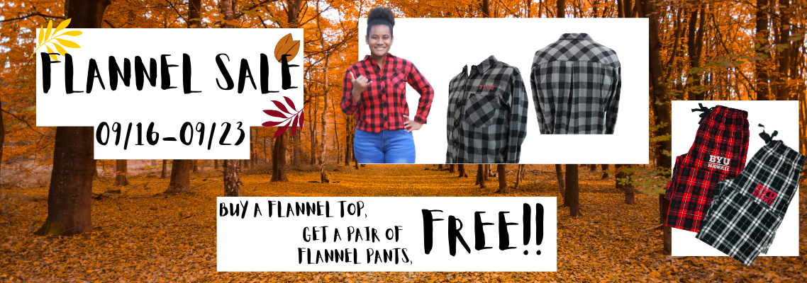 Image of flannel sale bannar