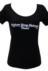 Clearance - BYUH Cursive Ladies Logo Shirt