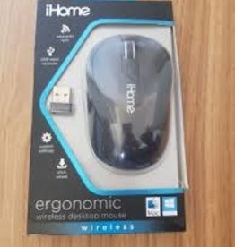 ihome iHome Ergonomic Wireless Mouse - Black