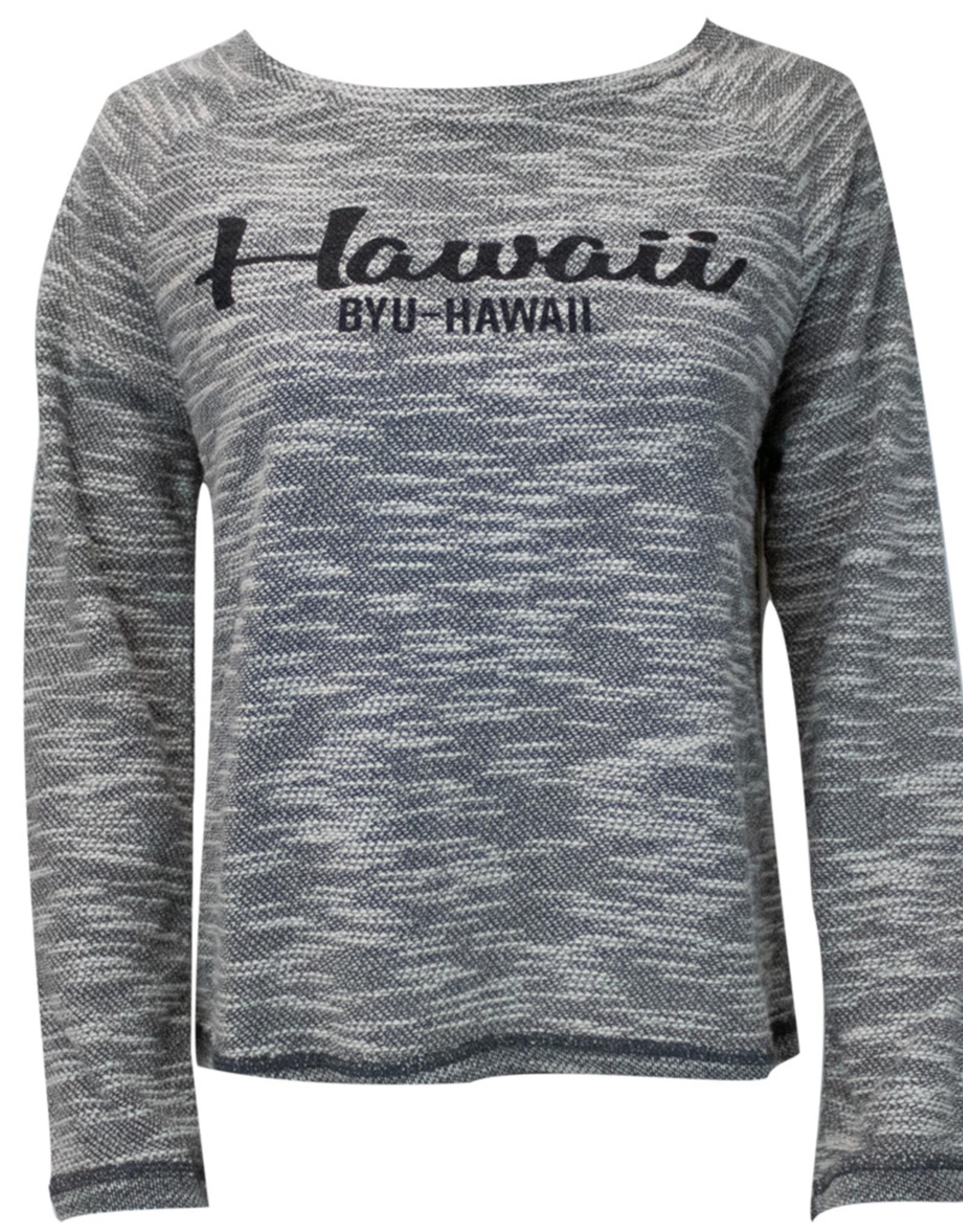 Clearance - BYU-Hawaii Waverly Crew Neck Long Sleeve
