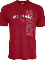 "BYU-Hawaii ""Y"" w/ Islands Triblend Men's Tee"