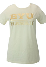 BYUH PRINT SERVICES BYU-Hawaii Ladies Gold Foil Shirt
