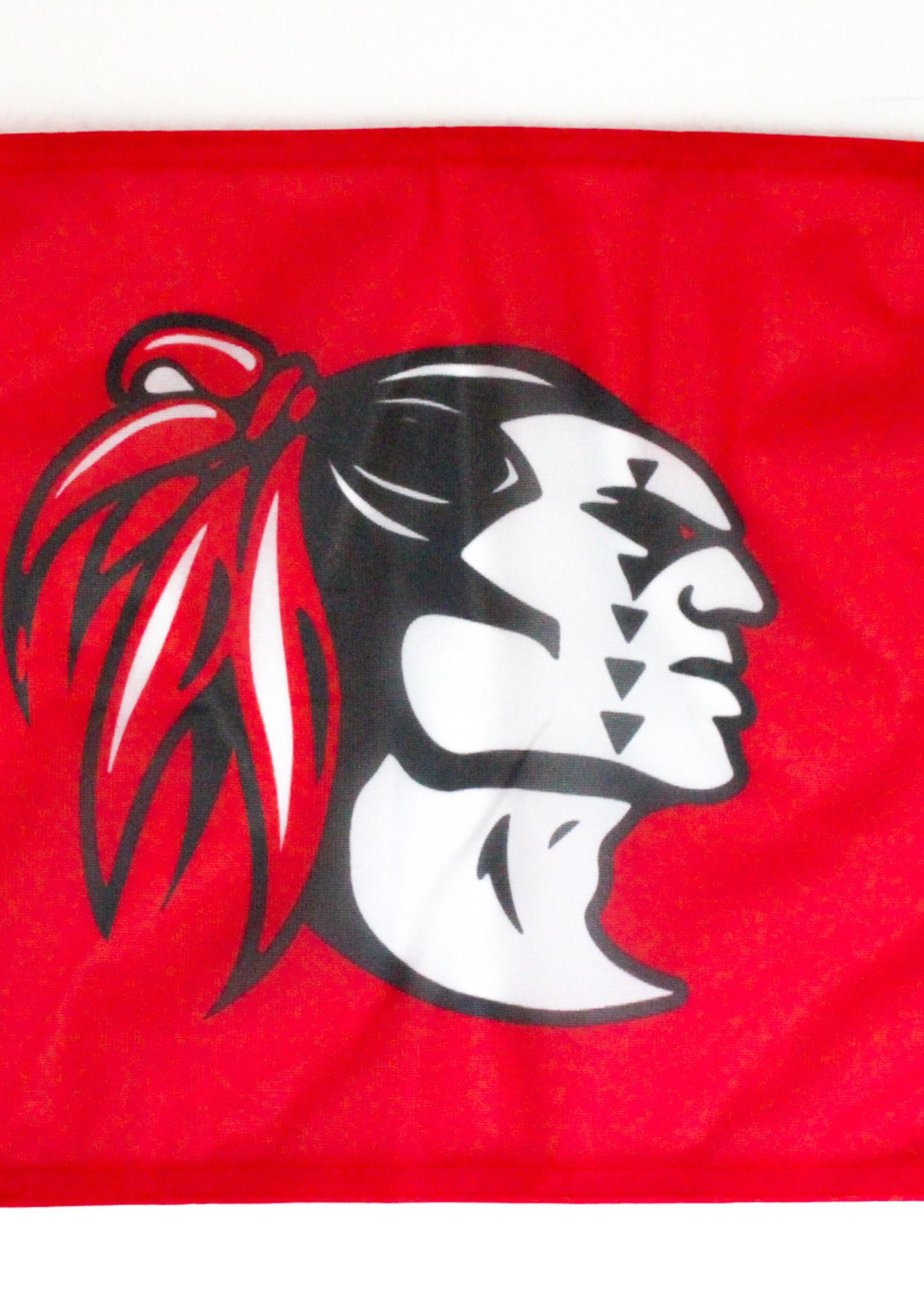 KAHUKU RED RAIDER HEAD CAR FLAG