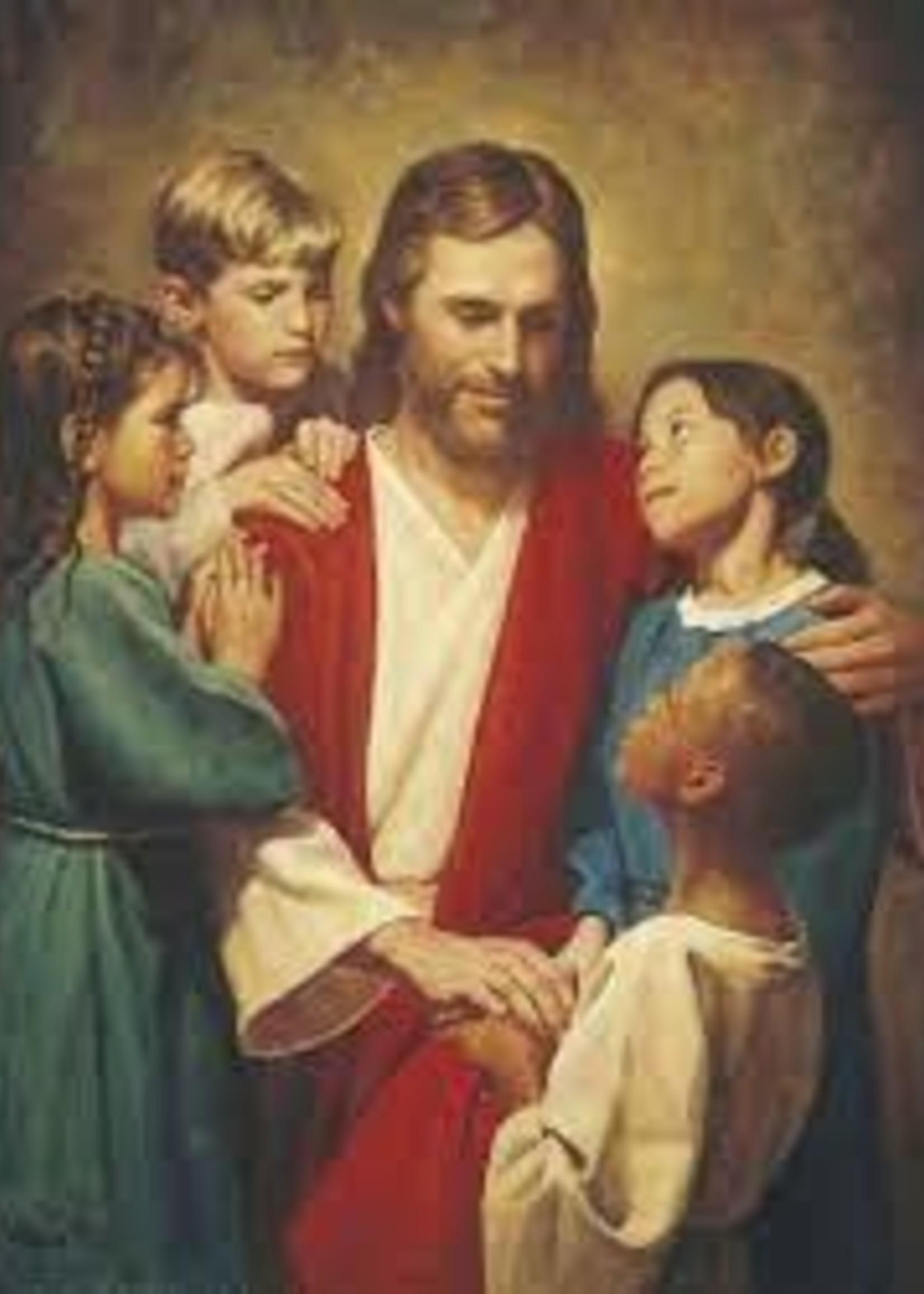 Christ & Children of the World 5x7
