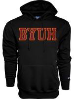 Hoodie With Red BYUH and Gold
