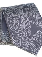 Pineapple Palaka Pineapple Palaka Ties -  Mai'a Grey Modern Necktie