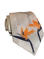Pineapple Palaka Pineapple Palaka Ties -  Birds of Paradise Light Modern Necktie