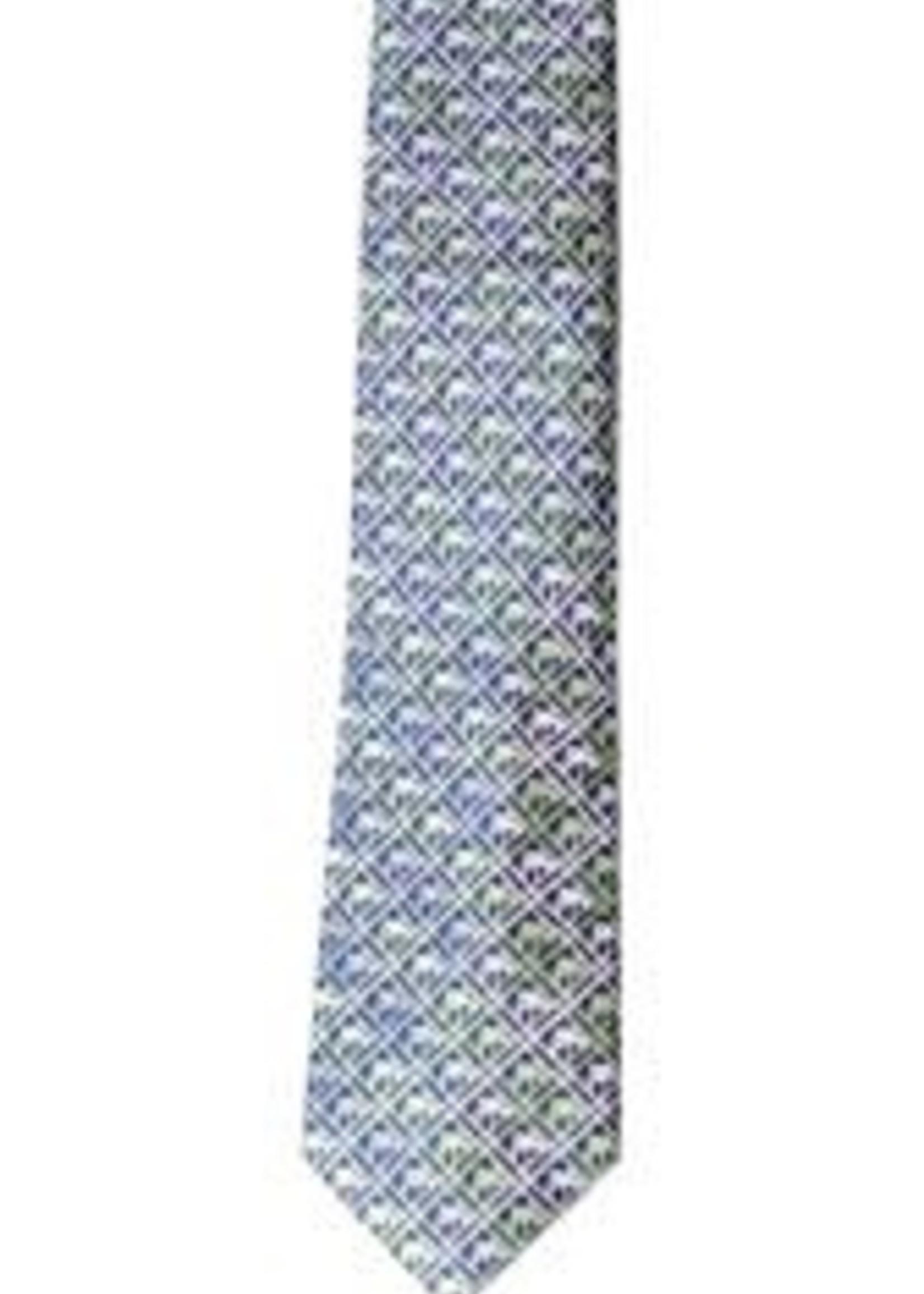 Pineapple Palaka Pineapple Palaka Ties -  Palm Tree Navy  Necktie