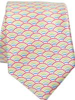 Pineapple Palaka Pineapple Palaka Ties -  Anuenue White  Necktie