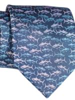 Pineapple Palaka Pineapple Palaka Ties -  Ahi Blue  Necktie