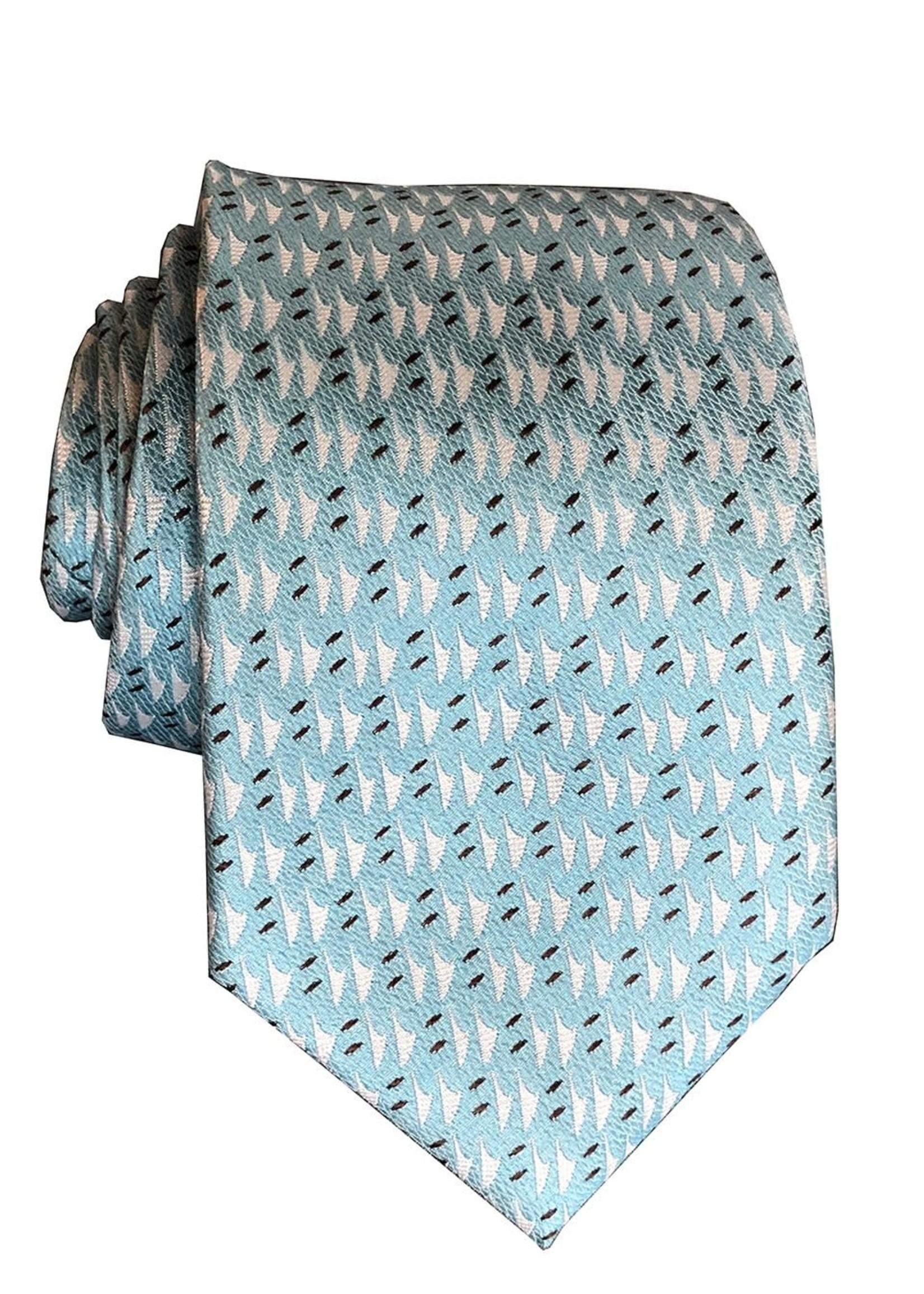 Pineapple Palaka Pineapple Palaka Ties -  Hawaiian Voyage Blue  Necktie