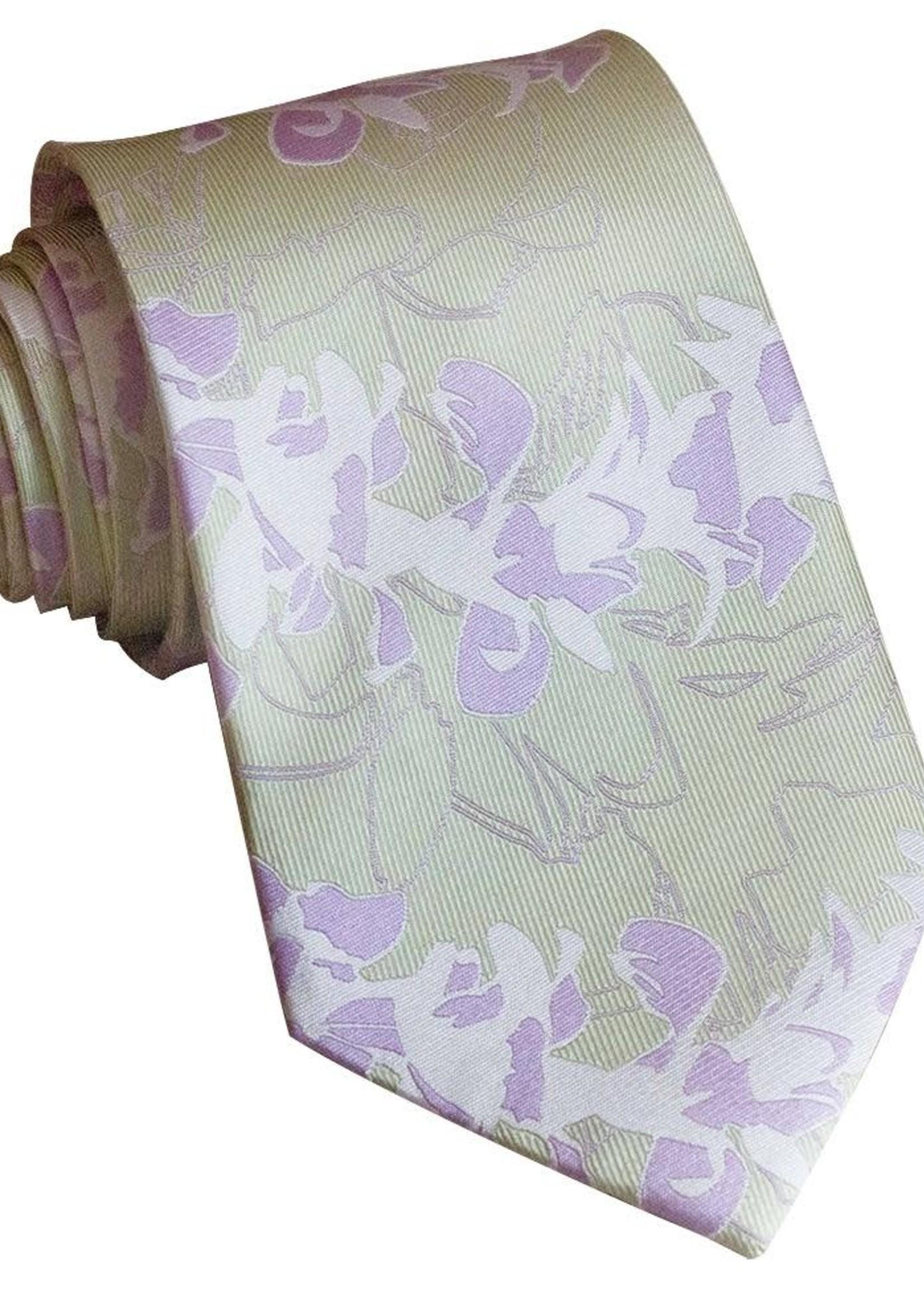 Pineapple Palaka Pineapple Palaka Ties -  Orchid Lei EXECUTIVE Necktie