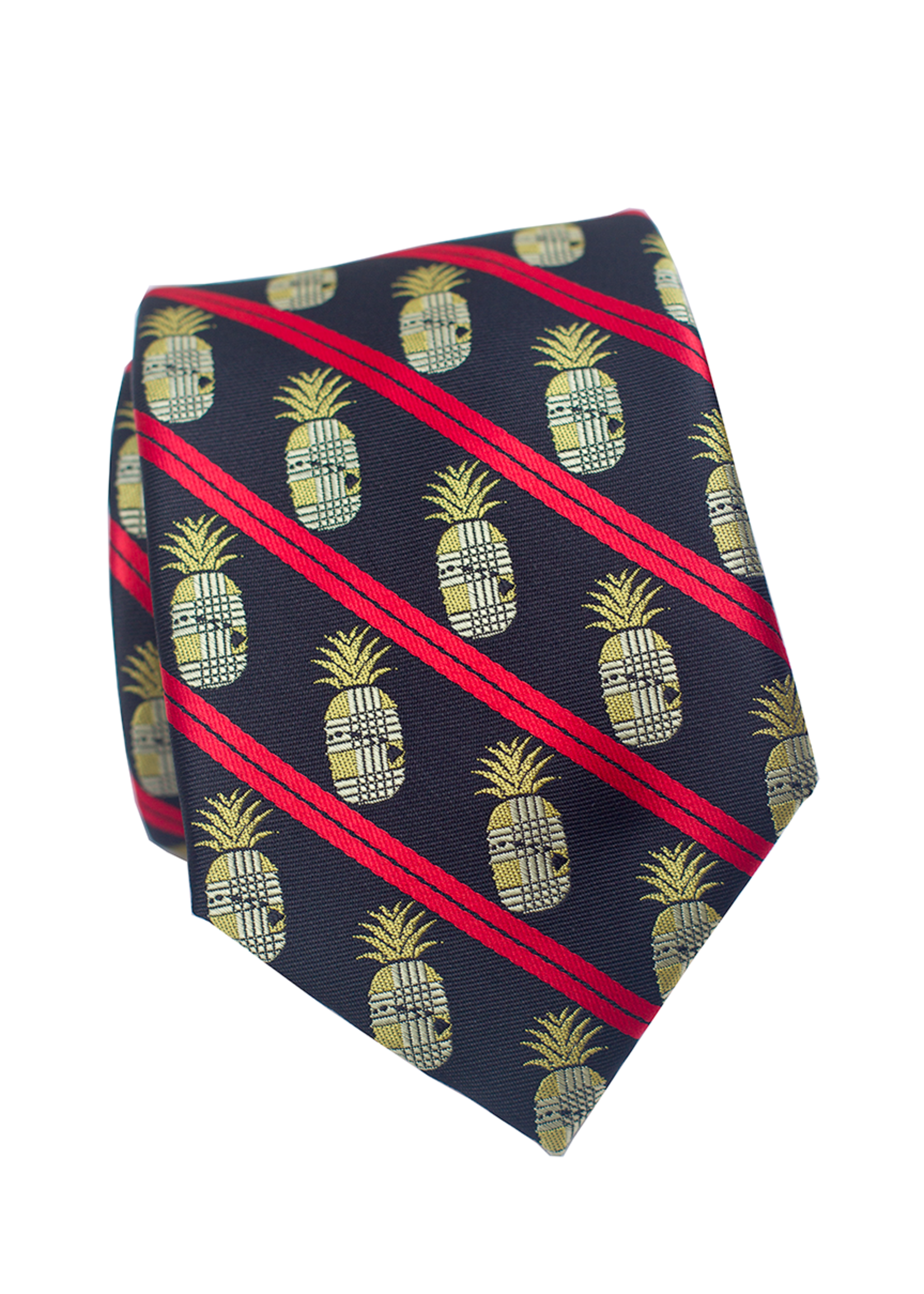 Pineapple Palaka Pineapple Palaka Ties -  DISC Hawaiian Pineapple EXECUTIVE Necktie