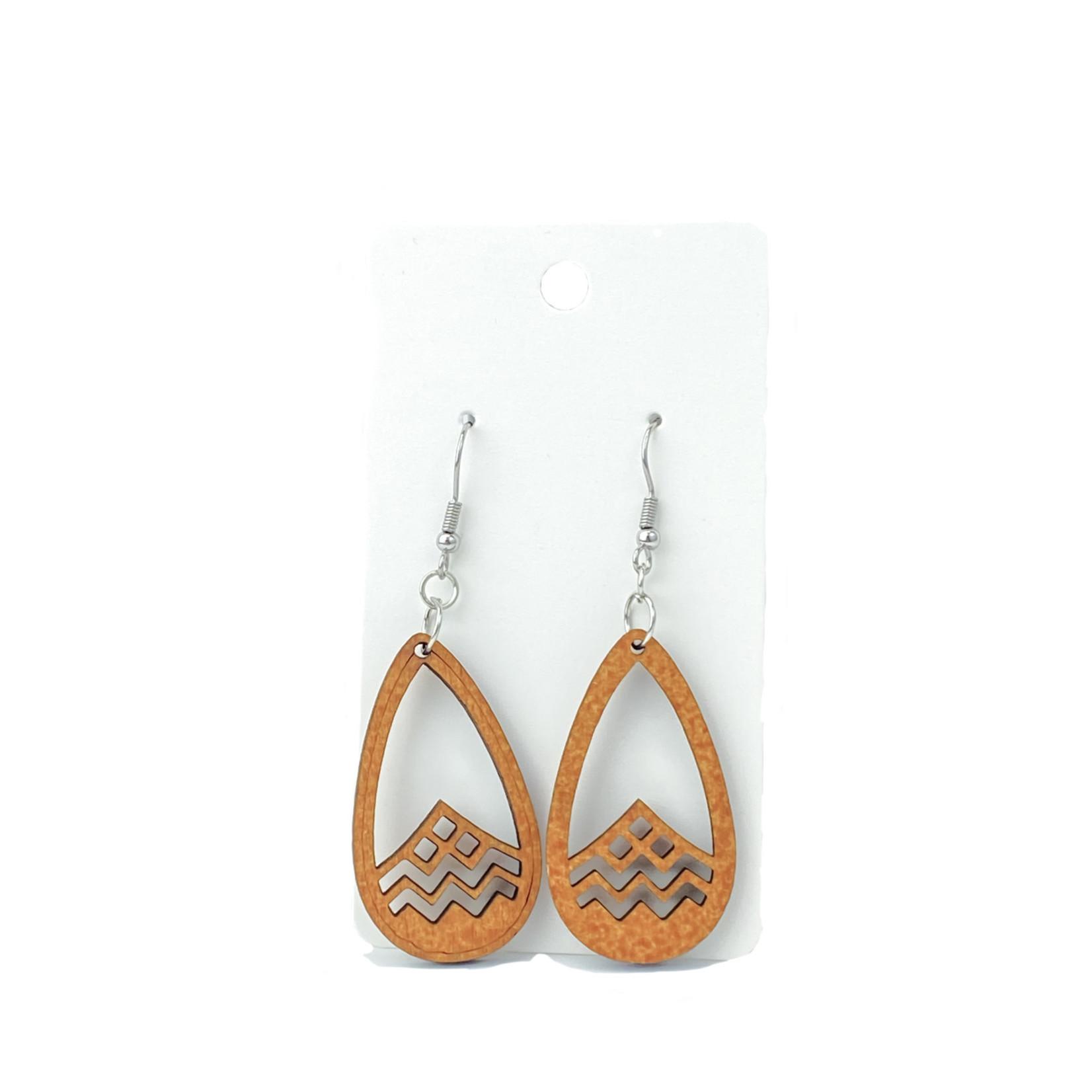 Carved Dangly Earrings -