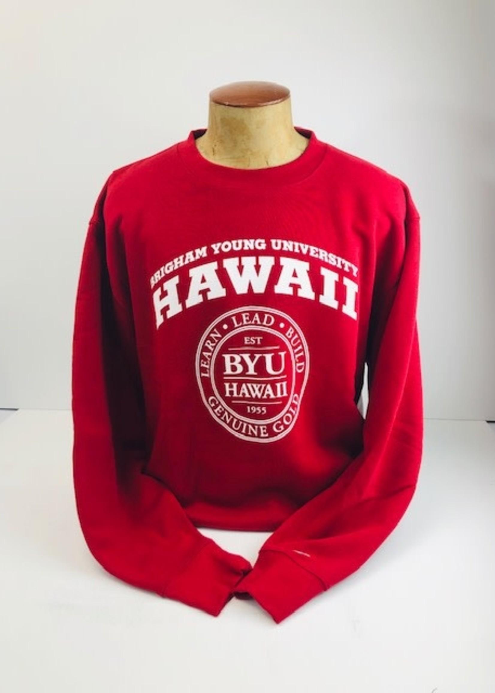 BYU-Hawaii Logo Large Seal Crew Fleece