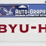 Decals BYUH Large -  #2 DISC BYU-H RED W/WHITE OUTLINE