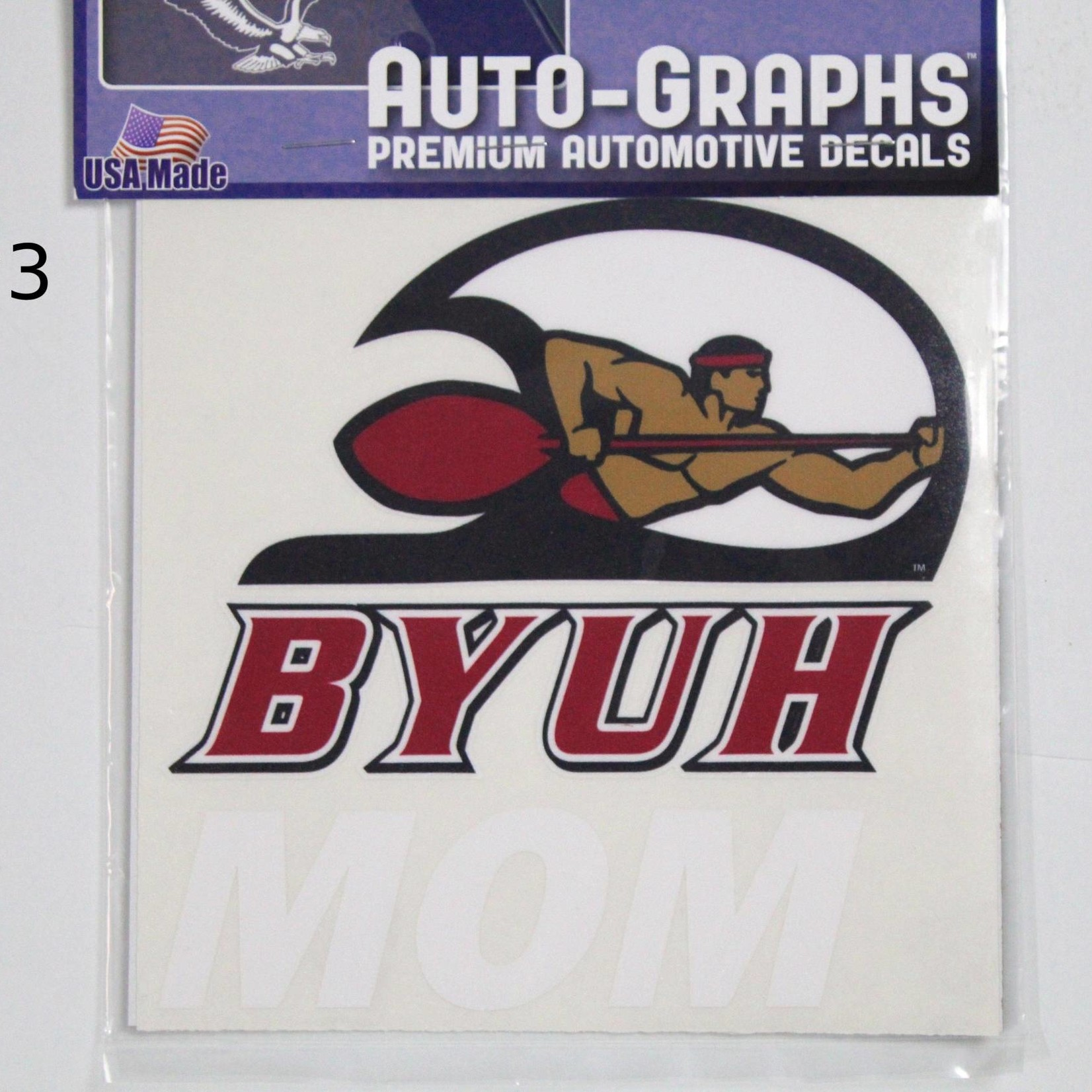 DECAL LARGE BYUH -  #3 BYUH W/SEASIDER MOM