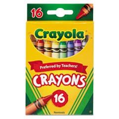 DISC 52-3016 CRAYOLA CRAYONS 16CT