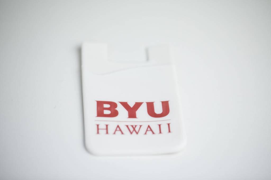 CELLPHONE CARD SNAP HOLDER WHITE BYUH