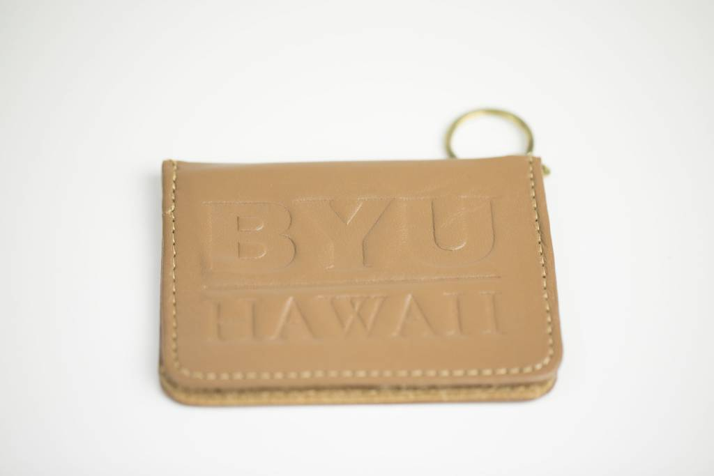 LEATHER PASS KEY CASE TAN