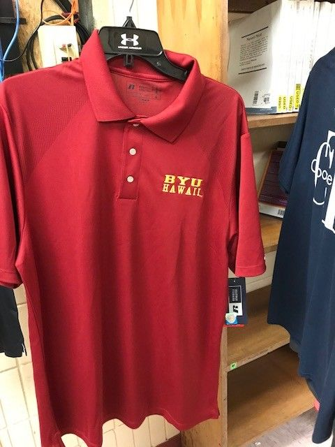 MEN'S GOLF POLO CARDINAL Gold letters