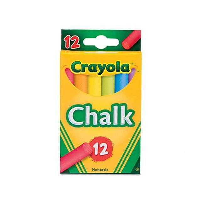 CRAYOLA COLORED CHALK 12PK