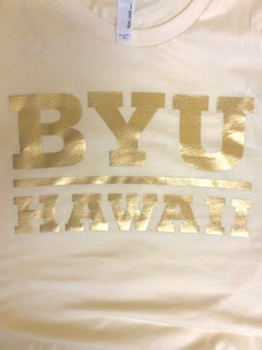 DISC BYU HAWAII GOLD FOIL IVORY