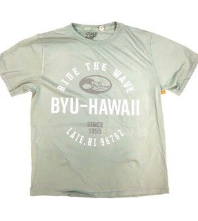 BYUH Ride The Wave Dyed Ringspun Tee