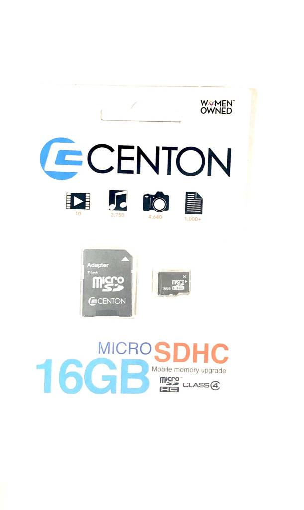Centon Micro SDHC Card, 16GB/4Mbps (BULK)