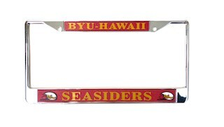 R&D BYU HAWAII LICENSE PLATE Chrome Insert Frame