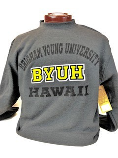 DISC BYUH CAMPBELL CREW CHARCOAL