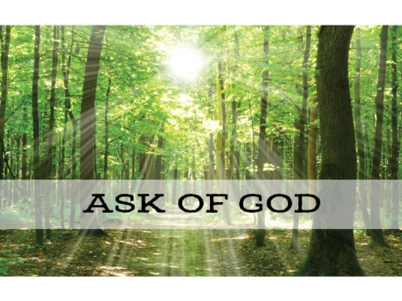 RECOMMEND HOLDER ASK OF GOD