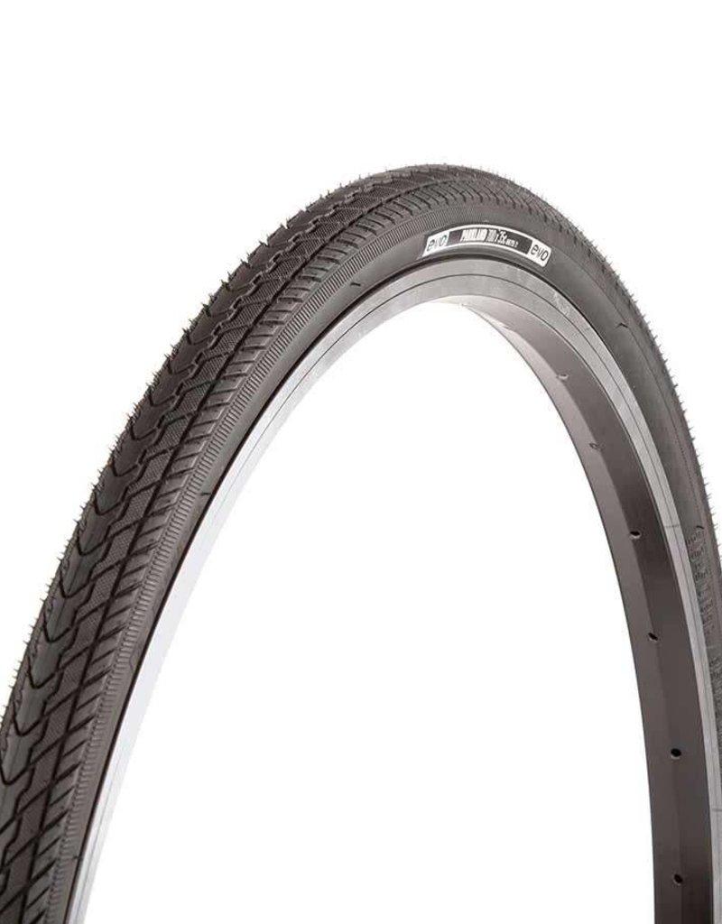 EVO, Parkland, Tire, 700x35C, Wire, Clincher, Black