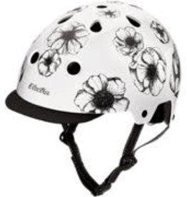 Electra Helmet Flowers White