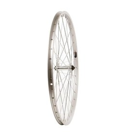 """Wheel Shop, Front 26"""" Wheel, 36H Silver Alloy Single Wall Alex C1000/ Silver Formula FM-21 QR Hub, Steel Spkes"""