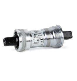 Shimano, EBBUN55B22, BB-UN55, Square, BB Shell: 68mm, Axle: 122.5mm, Steel, Silver
