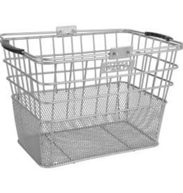 EVO, E-Cargo Lift off Dual Mesh, Basket, Silver