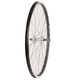 "Wheel Shop, Rear 26"" Wheel, 36H Black Ally Double Wall Ev E Tur 19/ Silver Frmula FM-31 Nutted Axle FW hub, Stainless Spkes"