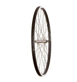 "Wheel Shop, Rear 26"" Wheel, 36H Black Ally Duble Wall Ev E Tur 19/ Silver Frmula FM-31 QR FW Hub, Stainless Spkes"