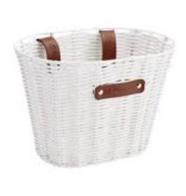 BASKET ELECTRA PLASTIC WOVEN SMALL WHITE