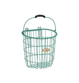 Basket Nantucket Surfside Wire Pannier Turquoise Rear