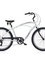 """Electra Cruiser Lux 7D Mens Polished Silver 26"""" - 2018"""