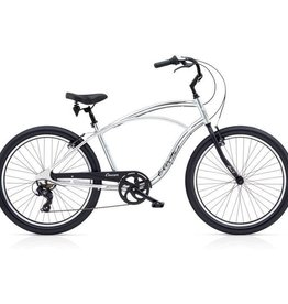 "Electra Cruiser Lux 7D Polished Silver - Mens 26"" 2018"