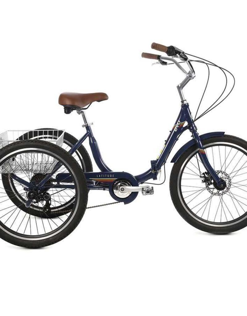 EVO, Latitude Folding Trike, 8-Speed, Jamaica Blue, Universal One-Size 2019