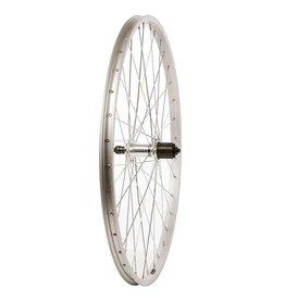 Wheel Shop, Rear 26'' Wheel Alex C1000 Silver / FH-RM30, 36 Steel spkes, QR axle, For 7sp. cassette