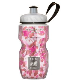 WATER BOTTLE POLAR 12OZ PINK LEOPARD