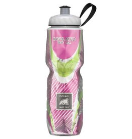 Water Bottle Polar 24oz Spin Bloom Pink Green