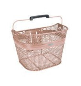 Basket Electra Linear QR Mesh Metallic Rose Gold