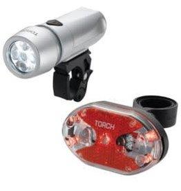 Torch, Cycle Light Set, High Beamer White 5X + Tail Bright 5X, Light set